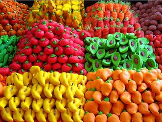 alfeñique de frutas